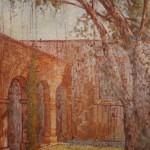 1986,CASA DE BASTIDAS, oleo-lienzo,60x30