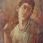 1988 ,AUTORRETRATO,oleo-lienzo,30x22