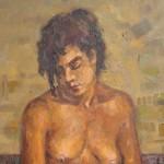 1988 ,LA MODELO, oleo-lienzo(detalle)