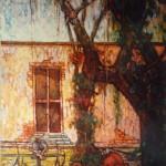 1988,PATIO COLONIAL, oleo-lienzo,40x30