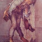 1989, BORRACHO, olo-lienzo,60x40