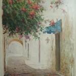 1990 ,CALLEJON DE LOS CURAS,acuarela, 30x24