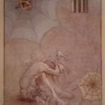 1990, ENTRE REJAS Y REDES,oleo y collage -lienzo,60x40