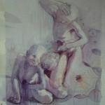 1990, MARGINADOS,oleo-lienzo,60x35