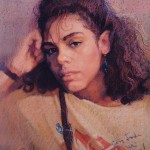 1990 ,MI NOVIA ADACELYS , pastel-carton, 24x20