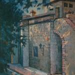 1991, IGLESIA SANTA BARBARA,oleo-lienzo,30x24