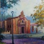 1992 ,IGLESIA COLONIAL,oleo-lienzo,42x28