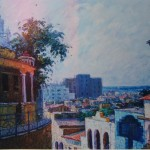 1993, CALLE HOSTOS,oleo-lienzo,40x50