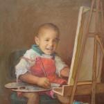 1995 . AVILA,KEVIN CARLOS (mi hijo)oleo-lienzo, 30x24