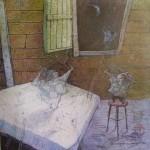 1999-Desde mi ventana II ,   40x40