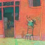 2001-En la puerta de mi casa,40x30