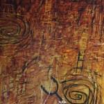 2001-Tirapiedras sobre banquito,   40x14