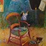 2002-Sobre la silla de Gauguin,   50x40