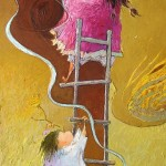 2005-Tirapiedras felices,   40x12