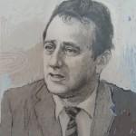 2006, DR. JUTIN CURY, oleo-lienzo(detalle de pintura)