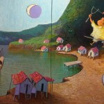2009-Pescando fantasias, 28x56(diptico)