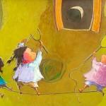 2009-Travesuras de mis nietas,18x36