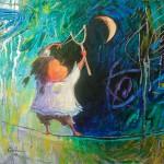 2010-La luna y yo,16x16