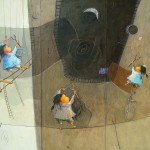 2011-Malabaristas felices, 50x60(triptico)